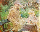 Eugene Manet and his Daughter at Bougival 1881 - Berthe Morisot