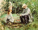 Eugene Manet and his Daughter in the Garden 1883 - Berthe Morisot