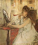 Young Woman Powdering her Face 1887 - Berthe Morisot