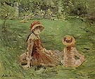 In the Garden Maurecourt 1884 - Berthe Morisot