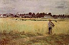 In the Wheatfield 1875 - Berthe Morisot