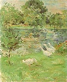 Girl in Boat with Geese 1889 - Berthe Morisot