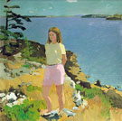 Girl in Landscape 1965 - Fairfield Porter