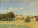 View of Marly le Roi Sunshine 1876 - Alfred Sisley