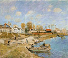 Sand on the Quayside Port Marly 1875 - Alfred Sisley