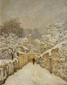 Snow at Louveciennes 1875 - Alfred Sisley