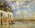 Boat in the Flood at Port Marly 1876 - Alfred Sisley