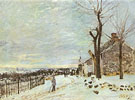 Snowy Weather at Veneux Nadon 1880 - Alfred Sisley