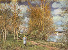 Small Meadows in Spring By 1881 - Alfred Sisley