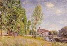 Matrats Boatyard Moret sur Loing 1883 - Alfred Sisley