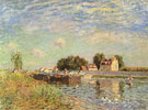 The Canal du Loing at Mammes 1885 - Alfred Sisley