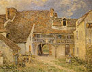 Courtyard of Farm at St Mammes 1884 - Alfred Sisley