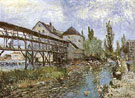 Provenchers Mill at Moret 1883 - Alfred Sisley