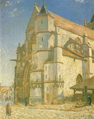 The Church at Moret in Morning Sun 1893 - Alfred Sisley