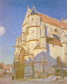 The Church at Moret 1894 - Alfred Sisley