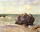 Langland Bay Storrs Rock Morning 1897 - Alfred Sisley