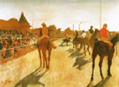 Race Houses in Front of the Grandstand c1866 - Edgar Degas