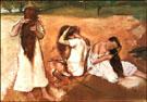 Three Women Combing their Hair - Edgar Degas