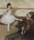 The Dance Lesson c1879 - Edgar Degas