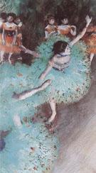 Ballerina in Green 1880 - Edgar Degas