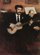 Lorenzo Pagans and Auguste De Gas c1871 - Edgar Degas
