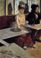 In a Cafe The Absinthe Drinker c1875 - Edgar Degas