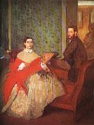 Edmondo and Thereses Morbilli 1865 - Edgar Degas
