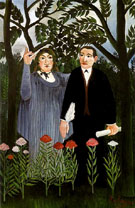 The Muse Inspiring the Poet 1909 - Henri Rousseau