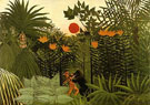 Exotic Landscape Fight Between Gorilla and Indian 1910 - Henri Rousseau