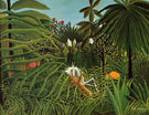 Horse Attacked by a Jaguar 1910 - Henri Rousseau