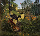 Fight Between a Tiger and a Buffalo 1908 - Henri Rousseau
