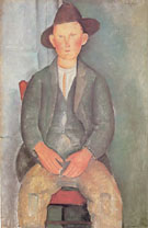 The Little Peasant 1918 - Amedeo Modigliani