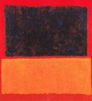 Blue Over Orange 1956 - Mark Rothko