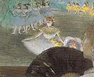 Dancer with Bouquet 1877 - Edgar Degas
