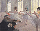The Rehearsal 1873 - Edgar Degas
