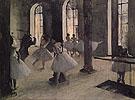The Dance Rehearsal 1873 - Edgar Degas