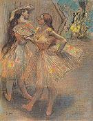 Two Dancers in the Wings 1880 - Edgar Degas
