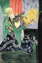 Calla Lilies Irises and Mimosas Early 1913 - Henri Matisse