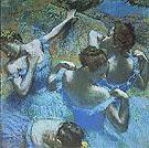 Four Ballerinas Resting Between Scenes, c1889 - Edgar Degas
