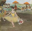 Ballerina with a Bouquet of Flowers 1877 - Edgar Degas