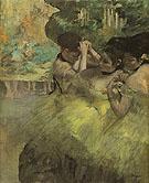 Yellow Dancers in the Wings 1874 - Edgar Degas