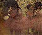 Dancers in Red Skirts 1884 - Edgar Degas