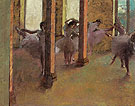 Dancers Practising in the Foyer 1875 - Edgar Degas