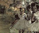 Three Dancers in the Wings 1880 - Edgar Degas