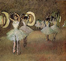 Dancer Rehearsal in the Foyer of the Opera 1895 - Edgar Degas