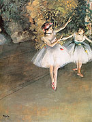 Two Dancers on the Stage 1874 - Edgar Degas
