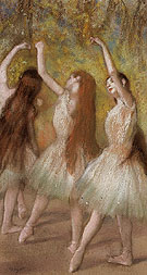Green Dancers 1885 - Edgar Degas