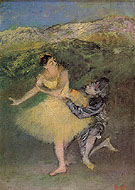 Harlequin and Columbine 1900 - Edgar Degas