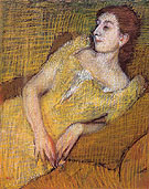 Seated Woman in a Yellow Dress 1890 - Edgar Degas