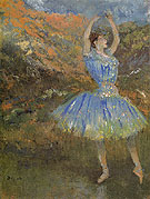 Blue Dancer 1894 - Edgar Degas